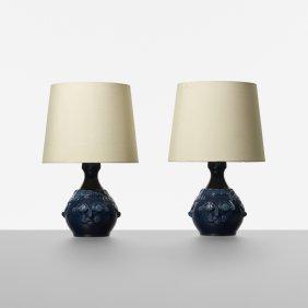 Bjorn Wiinblad, Table Lamps, Pair