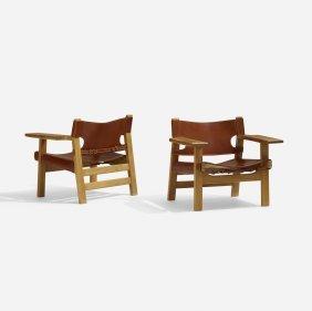 Borge Mogensen, Spanish Chairs, Pair