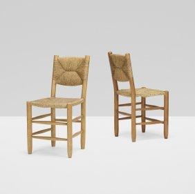 Charlotte Perriand, Dining Chairs, Pair