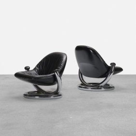 Paul Tuttle, Anaconda Lounge Chairs, Pair