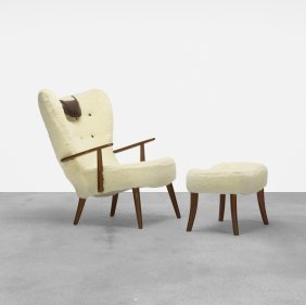 Acton Schubell & Ib Madsen, Pragh Chair & Ottoman