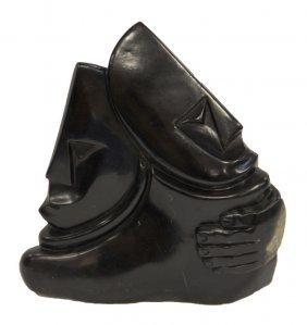 A Heavy Black Stone Sculpture