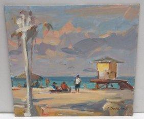 T Kortaski Oil Painting On Board