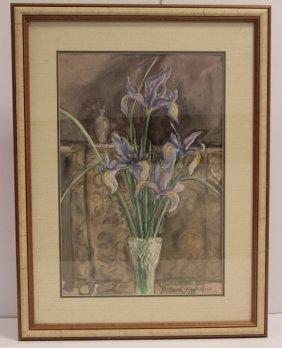 Edith Nagler Watercolor Signed Depicting Still Life