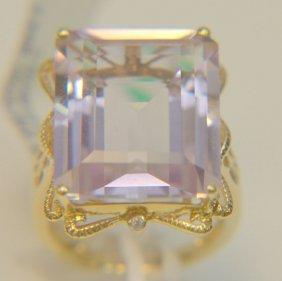 10 Kt. Yg Pink Amythist Ring