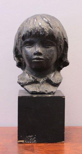 "Pierre Renoir Cast Bust, ""head Of Coco"""
