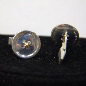 Vintage Tiffany & Co Sterling Button Cufflinks
