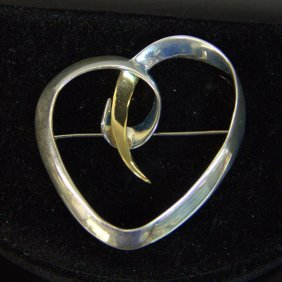 Vintage Tiffany & Co Sterling With 18kt Yg Paloma