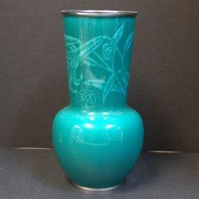 Japanese Sato Large Cloisonne Vase