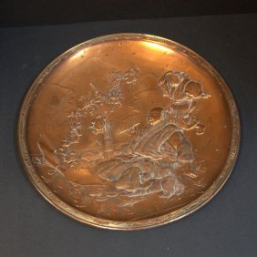 Japanese Figural Copper Plate