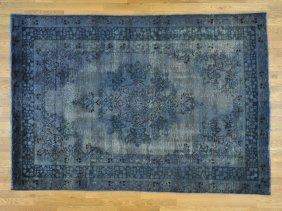Silver Overdyed Persian Tabriz Pure Wool Handmade Rug