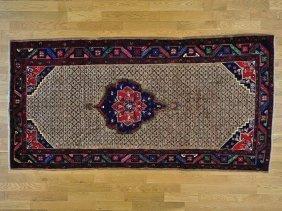 Persian Serab Camel Hair Handmade Wide Runner Rug