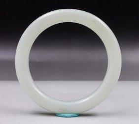 Chinese Plain White Jade Bangle