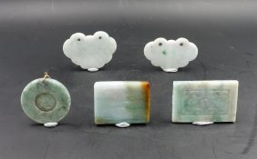 Chinese Group Of 5 Jadeite Pendants