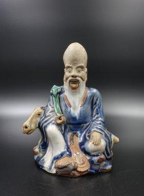 Chinese Ming Dynasty Fujian Ware Figure Of Laoshou