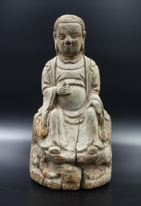 Chinese Wood Carve Figure Of Immortal