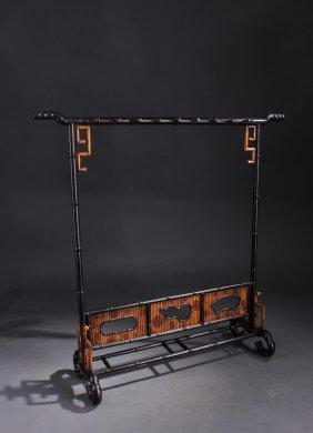 Chinese Qing Dynasty Zitan Wood Brush Hanger