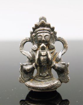 18th Century Silver Buddha