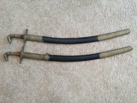 Two Asian Antique Swords With Scabbard