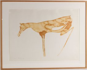 Photo Lithograph, Abstract Horse, Joseph Beuys