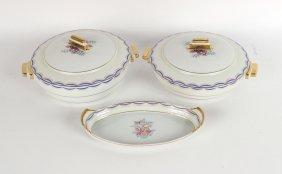 Two Limoges Porcelain Covered Vegetable Bowls