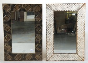 Two Mirrors, Metal Ceiling Tile Frames
