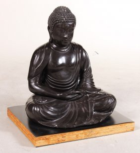 Patinated Metal Buddha