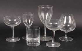 Group Of Glass Stemware And Barware