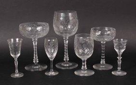 Group Of Glass Stemware