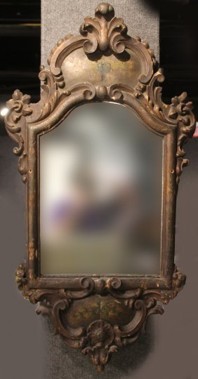 Baroque Style Black-painted Wood Mirror