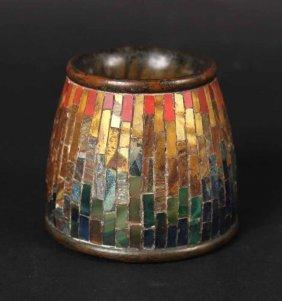 Tiffany Studios Bronze Mosaic Pen Wipe