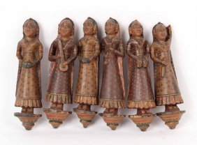 Six Asian Carved Figures