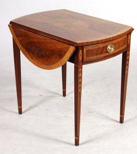 Federal Style Inlaid Mahogany Pembroke Table