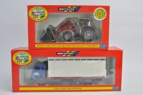 Britains Farm Massey Ferguson 6140 Tractor With Loader