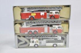 Trio Of Conrad 1/50 Fire Trucks. Nm To M. (3)