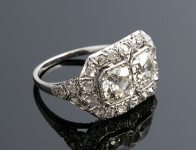 Platinum And Diamond Ring, 1920's