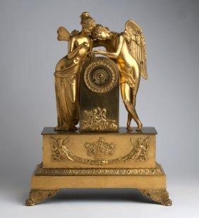 A French Gilt-bronze Table Clock, Circa 1830