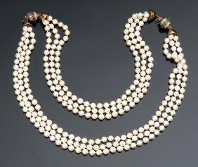 Couple Of 18k Gold, Ruby Diamond Emerald Pearl