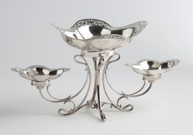 A Small And Unusual Sterling Silver (925‰) Table