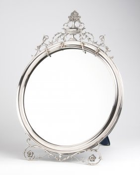 Large Sterling Silver (925‰) Frame Mirror, William
