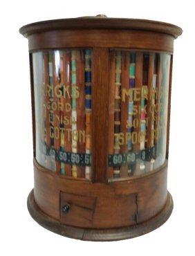#162- Rare Model Dated 1897 Merrick's Round Spool Cabin