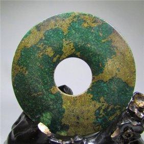 Largenatural Ancient Old Jade,jade Bi, Length:80mm