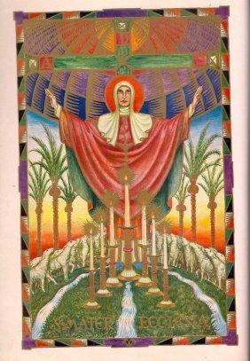 Illuminated-gold Missale Romanum Leaf