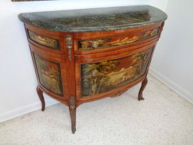 Louis Xv French Style 3 Drawer Hand Painted Commode