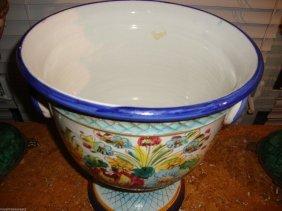 Large Italian Hand Painted Campana Vase