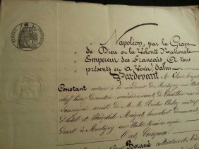 1866 French Document- Napoleon- 1866 - 8 Pages