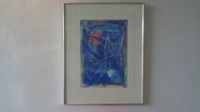 Original Abstract Acrylic Painting On Paper-85