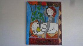 Large Oil Painting On Canvas Picasso Style