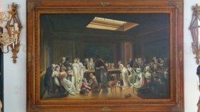 Large Oil Painting On Canvas Billiards Ladies