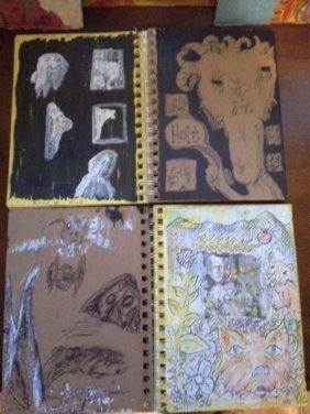 104 Original Art Sketchbooks Mostly Done In Ink